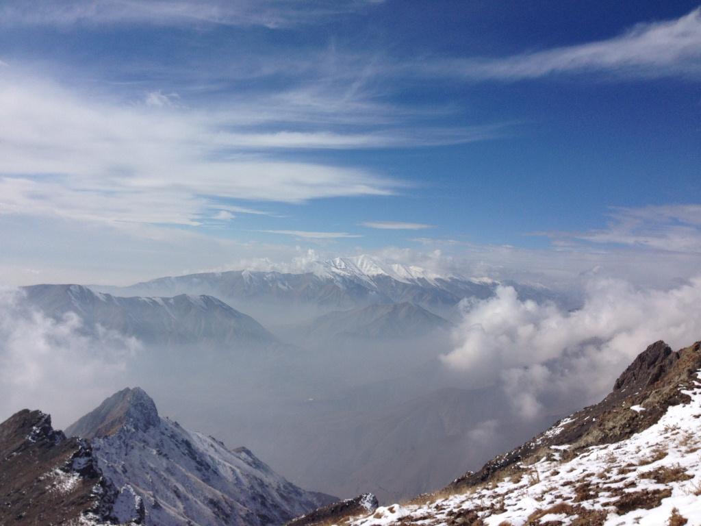 نمای شمالی قله توچال از مسیر آتشکوه