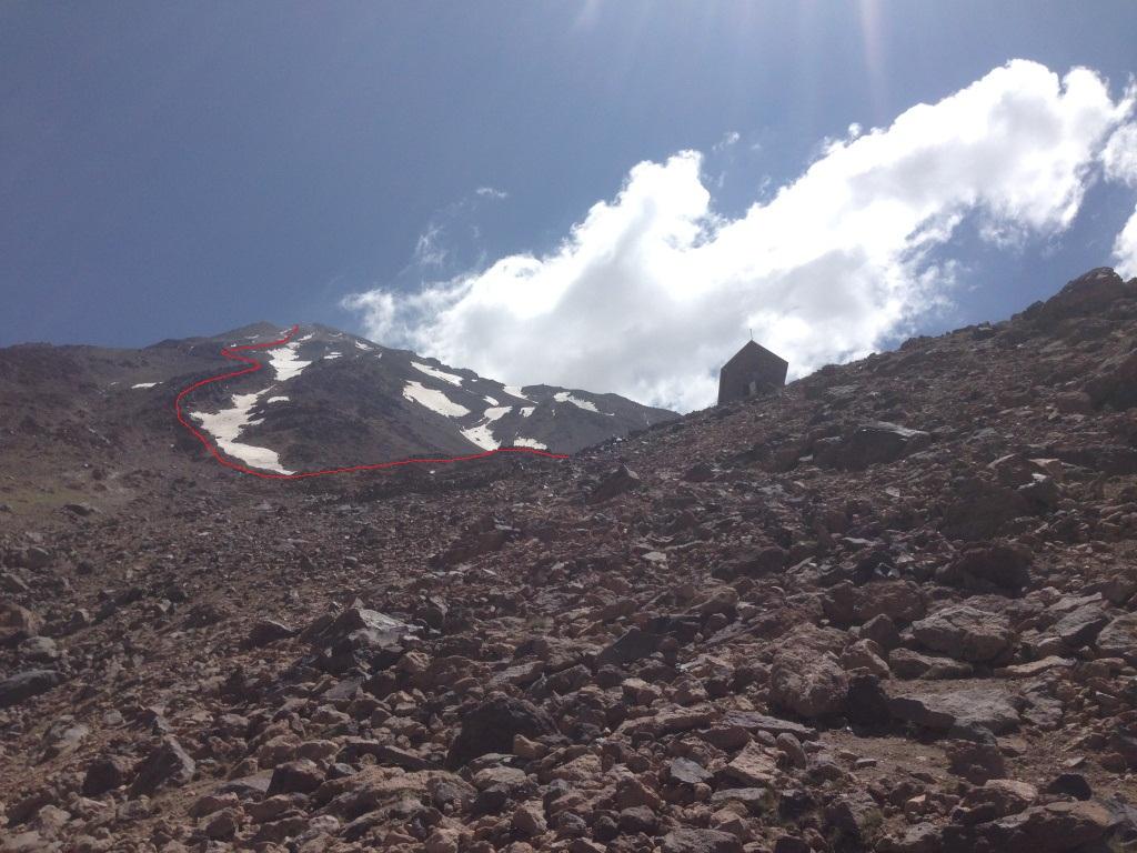 مسیر صعود از پناهگاه سیمرغ تا قله